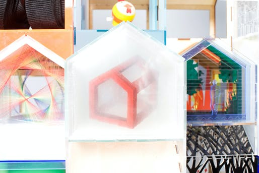 """Jigsaw House"" by MAKE Architects is currently being auctioned for A Doll's House. Photo: Thomas Butler"