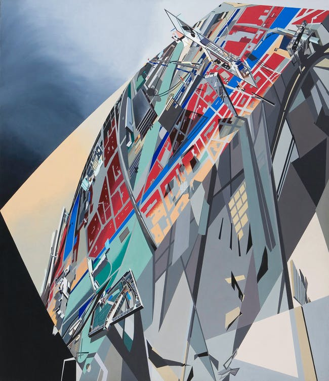The World (89 Degrees). Painting by Zaha Hadid. Image via http://www.arcspace.com/