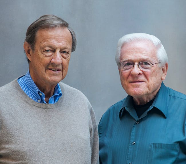 Lifetime Achievement: Ivan Chermayeff and Tom Geismar. Photo: Chermayeff & Geismar & Haviv. Photo (c) Chermayeff & Geismar & Haviv
