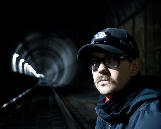 A portrait of the writer and urban explorer Bradley Garrett. Via Wikipedia