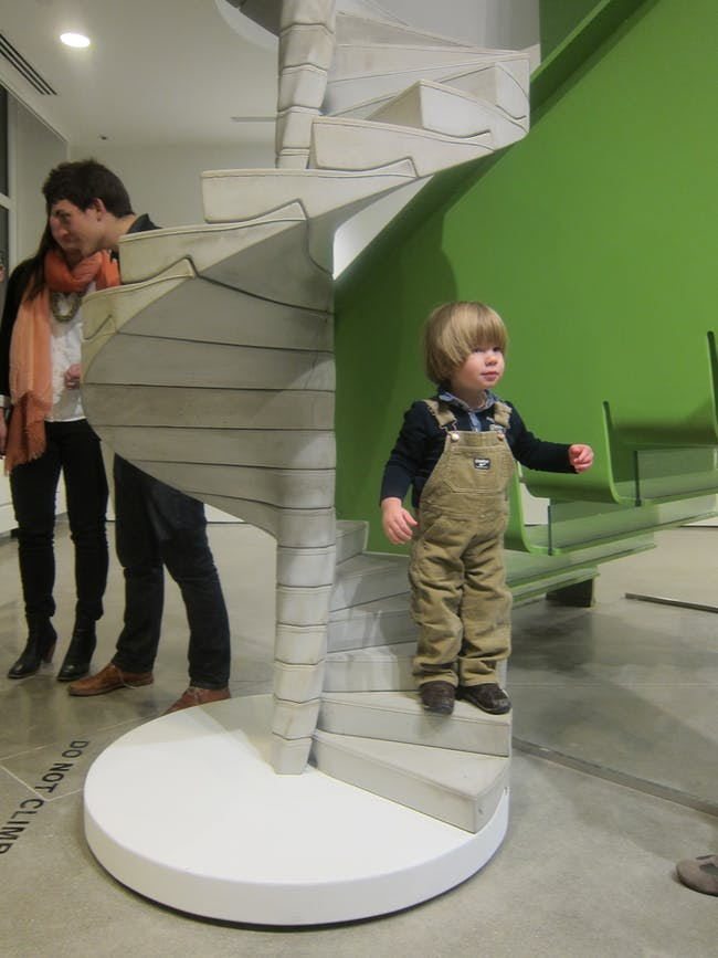 Toddlers appreciate half-scale stairs way more than you do