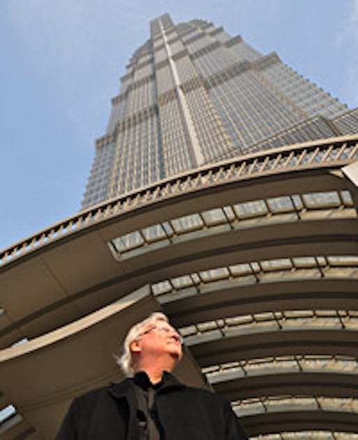 Adrian Smith at Jin Mao Tower in Shanghai © AS+GG