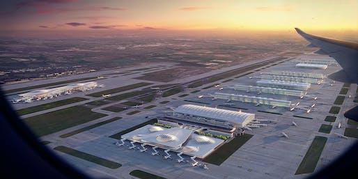 Heathrow Airport expansion, London. Image courtesy of Zaha Hadid Architects.