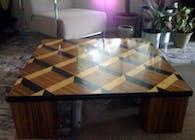 3D Zebra Wood Coffee Table