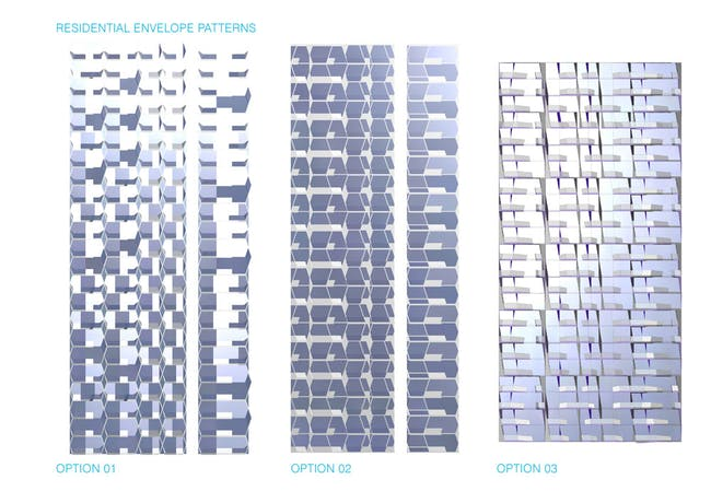 Concept diagram, residential envelope patterns (Image: UNStudio)
