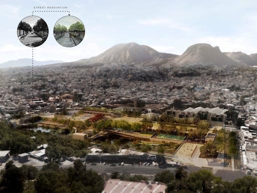 GOLD AWARD: Publicly-accessible water retention and treatment complex, Mexico City, Mexico. Project authors: Manuel Perló Cohen and Loreta Castro Reguera, Universidad Nacional Autónoma de México, Mexico City.