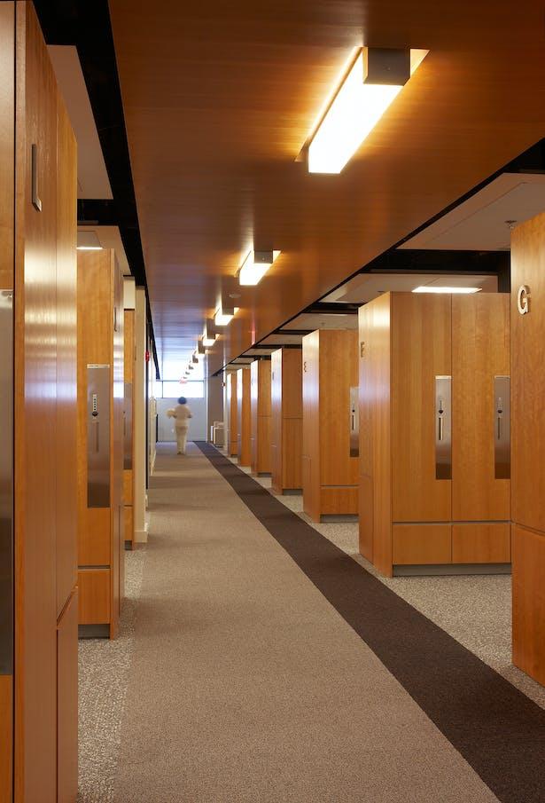 Oakdale Locker Room Corridor