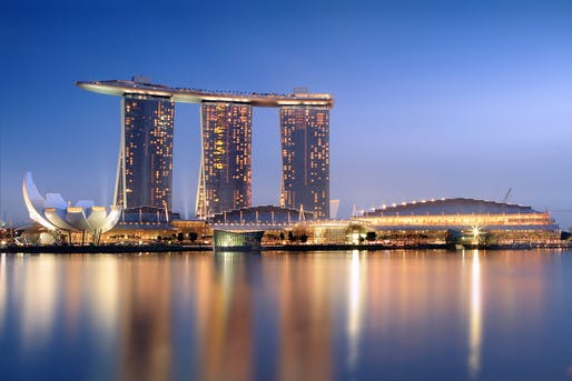 Marina Bay Sands in Singapore by Moshe Safdie, 2015 winner of the AIA Gold Medal. Photo by Someformofhuman via Wikipedia.