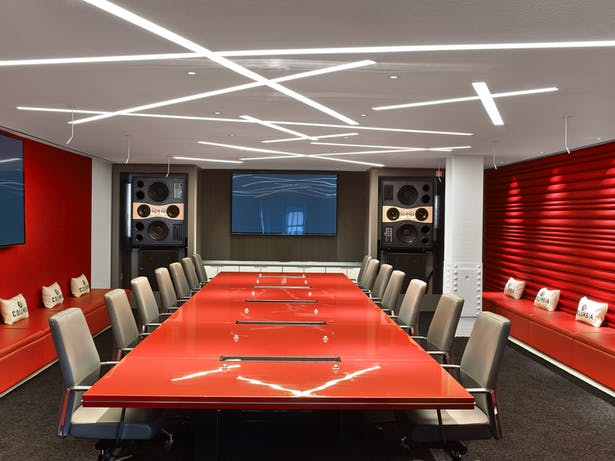 Columbia Records conference room.