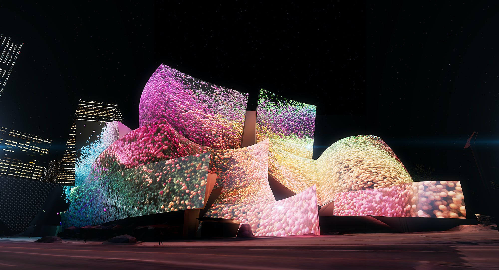 Refik Anadol To Cover Walt Disney Concert Hall With Vivid Data