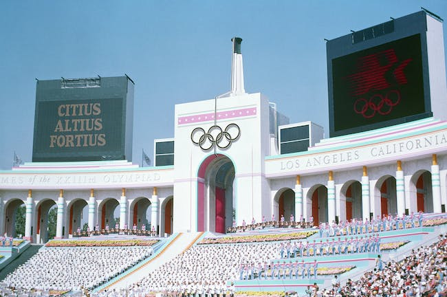 The 1984 Olympics in LA were widely considered a success. Credit: Wikipedia