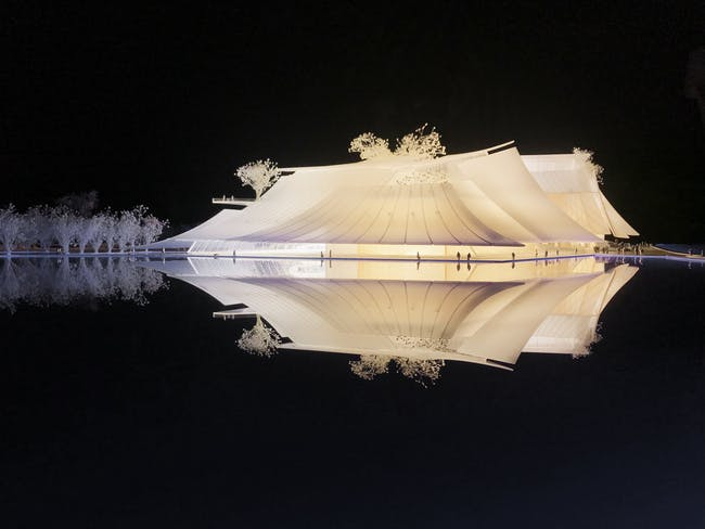 Yiwu Grand Theater model. Image © MAD Architects