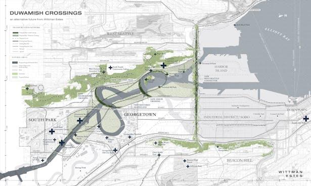 Duwamish Crossings: Site Map - Vision Proposal (Wittman Estes)