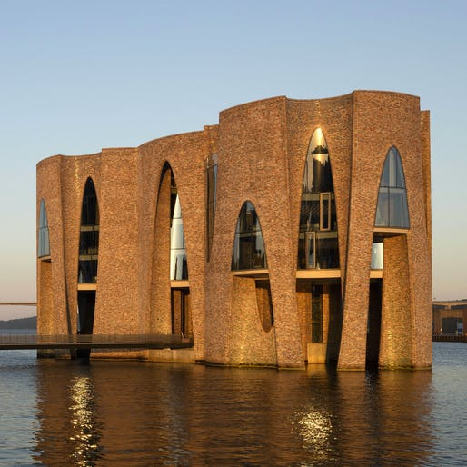 Fjordenhus by Olafur Eliasson and Sebastian Behmann with Studio Olafur Eliasson, located in Vejle, Denmark. Image: Anders Sune Berg.