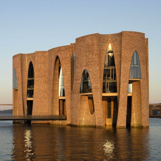 KIRK KAPITAL headquarters by Olafur Eliasson, located in Vejle, Denmark. Image: Anders Sune Berg.