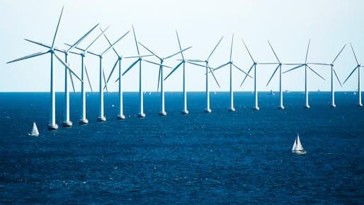 Offshore wind turbines near Copenhagen. Photo: CGP Grey/Wikimedia Commons.