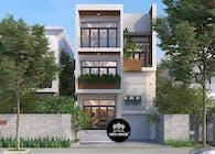 Thiết kế biệt thự 3 tầng đẹp theo phong cách hiện đại