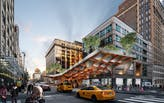 Dramatic cantilevered bridge complete with elevated park wins AISC's 2020 Forge Prize