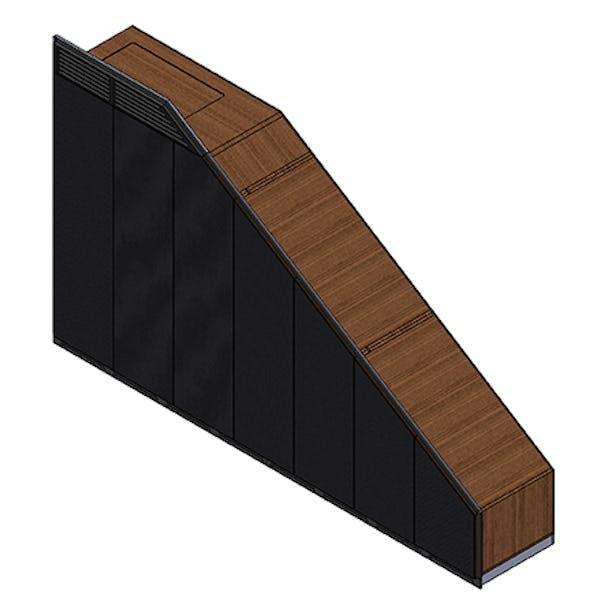 3D model of wooden wardrobe