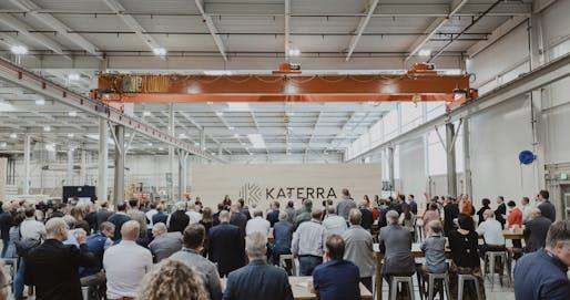 Photo of Katerra's new CLT plant in Spokane, Washington. Image courtesy of Katerra.