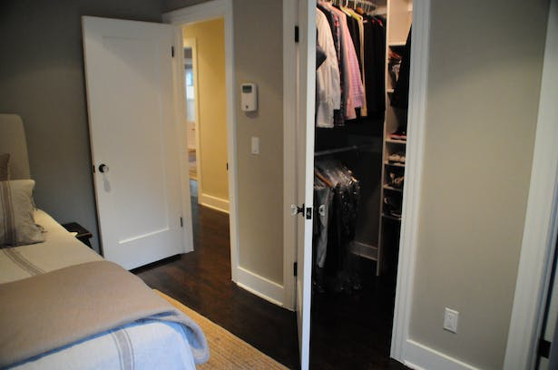 Excess hallway space was turned into a new walk-in-closet.
