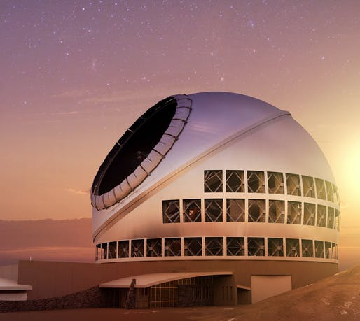 Artist impression of the $1.4 billion TMT Observatory. Image courtesy of TMT International Observatory.