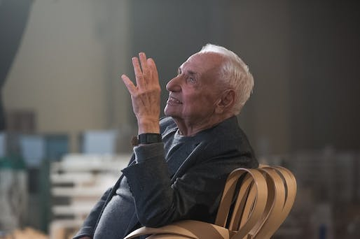 'You'd think I'd know when to quit.' Frank Gehry does his MasterClass thing. Image: MasterClass