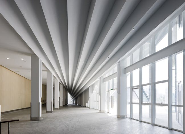 Interior shot of the Nanjing Performing Arts Center in China by Preston Scott Cohen. Credit: Preston Scott Cohen, Inc.