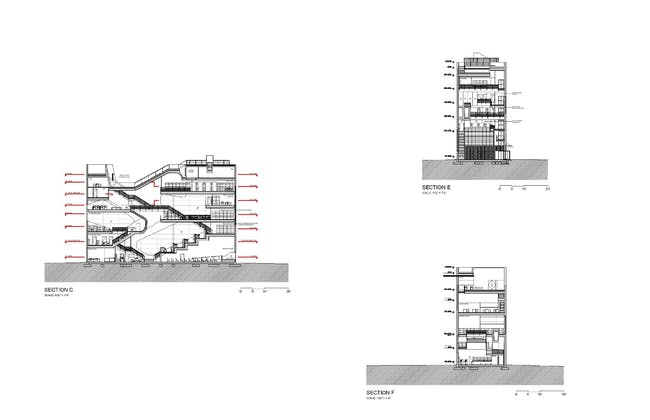 Sections. Courtesy of Steven Holl Architects.