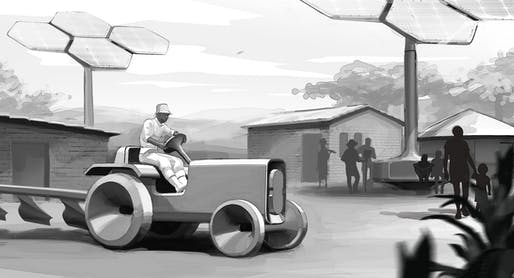 Sketch for the e-Tractor, All images courtesy of Volkswagen