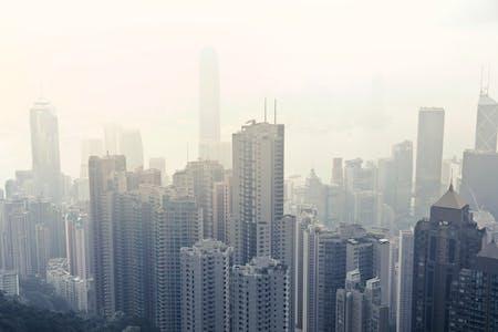 Air pollution in Hong Kong. Image: Andrea Piacquadio