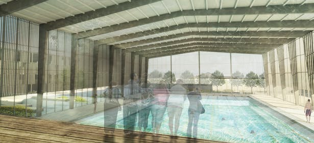 Aquatic Center Rendering