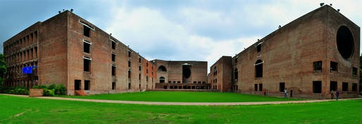 Louis Kahn Plaza at Indian Institute of Management, Ahmedabad in 2011. Photo: Wikimedia Commons user Mahargh Shah.