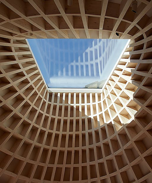 Timber roof with skylight Image © Gianni Botsford Architects
