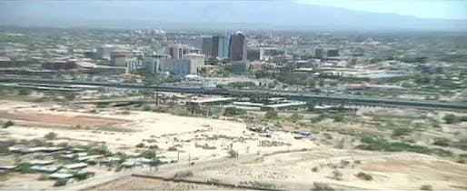 Downtown Tucson (still from KVOA report)