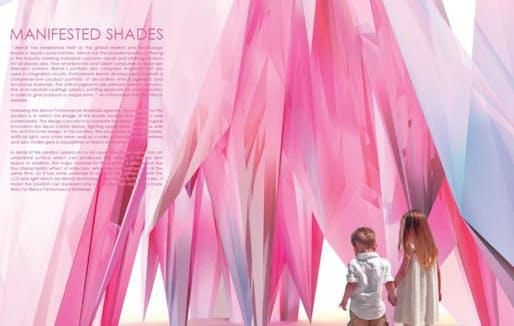 The Merck Crystal Pavilion Winner: Sarath Saitongin, Städelschule Architecture Class, Manifested Shades