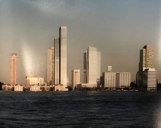 View of the proposed Avalon Tower in Jersey City. Image courtesy of Gerner Kronick + Valcarcel Architects.