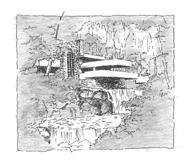 sketch by Albrecht Pichler, who drew the sketches, is a practicing architect and a principal in Hart Howerton's New York office