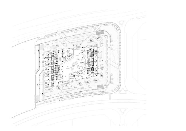 ZHA: Opus, Lower Ground Floor. Image courtesy of Zaha Hadid Architects.