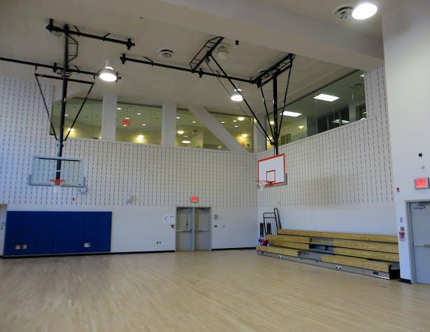 Gymnasiums west elevation.