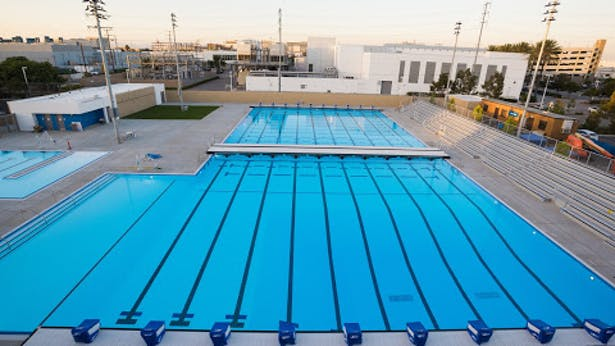 City of El Segundo Wiseburn Unified School District Aquatic Center with Arch Pac Aquatics. El Segundo, CA