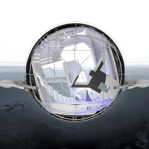 "Innovation Award winner: ""Sphere House: Tectonics of Buoyancy"". Participant: Jin Young Song."