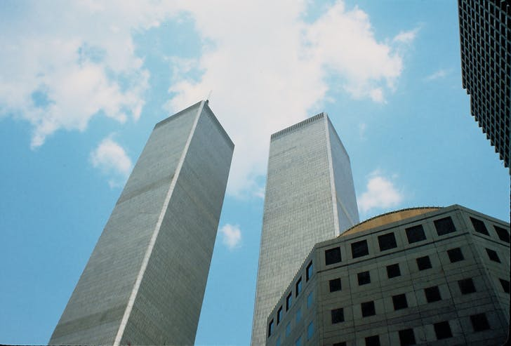 The Twin Towers at the World Trade Center as seen in 1987. Image: Yann Forget/Wikimedia Commons