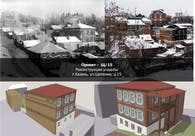 Sketch proposal for the reconstruction of the facades of the building Shchepkina street 15, Kazan