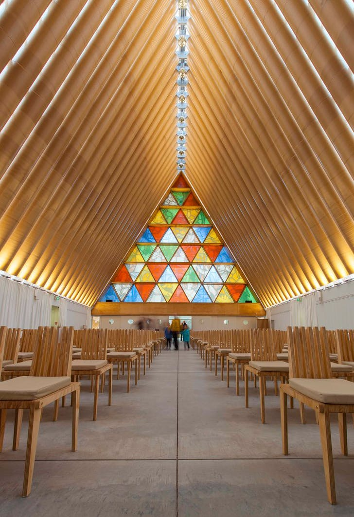 Cardboard Cathedral, Christchurch by Shigeru Ban
