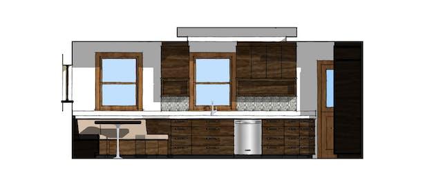 Proposed Kitchen North Elevation