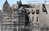 Work to dismantle the dangerous parts of the Mackintosh Building is underway