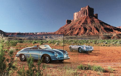 """Porsches in Nature""- concept, an experiential outdoor museum exhibit in the Canyonland region of Utah, Photo credits: Jared Zaugg"
