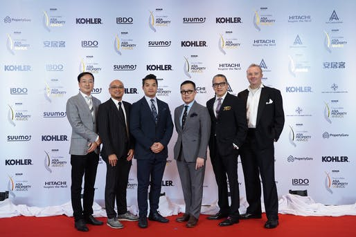 LWK's Directors at the Asia Property Awards Gala Night. From left to right: Mr. Fangming Gao, Mr. Niki Lai, Mr. Kelvin Hui, Mr. Lambert Ma, Mr. Ferdinand Cheung and Mr. Andrew Reid.