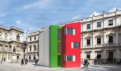 Richard Rogers' Homeshell built in 24 hours at London's Royal Academy